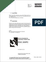 ROC203 CE Service Schedules