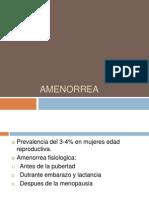 1. amenorrea