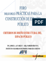 Criterio de diseño estructural del espacio público - Foro IDU VIII-05