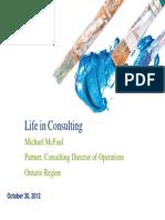 Life in Consulting Presentation - University of Ottawa