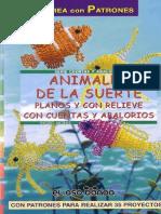 Animales de La Suerte Planos y Con Relieve Con Cuentas y Abalorios - JPR504