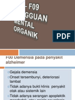F00 – F09 GANGGUAN MENTAL ORGANIK_141210