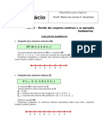 REVISÃO DOS CONJ NUMERICOS E AS OPER FUNDAMENTAIS