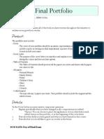 final portfolio description