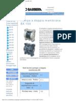 Savino Barbera, Pompe Pneumatiche a Doppia Membrana Bx 100