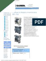 Savino Barbera, Pompe Pneumatiche a Doppia Membrana BX 150
