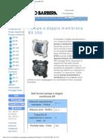 Savino Barbera, Pompe Pneumatiche a Doppia Membrana BX 250