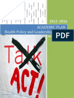 academic plan - health policy and leadership - 2012 - final - 06042012