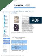 Savino Barbera, Pompe Pneumatiche a Doppia Membrana BX 502