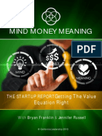 The Startup Report Getting the Value Equation Right