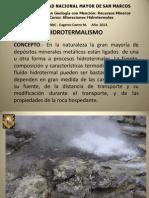 1ra Clase Hidrotermalismo