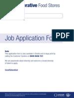 Co-Operative Job Application Food