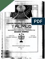 Wenfield, Eduardo. Cuentos y Parabolas Del Talmud