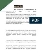 Ley de Bomberos Venezuela y Administracion de Emergencias