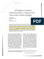 literacy and language as learning