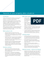 Hazards on Property After Bushfire