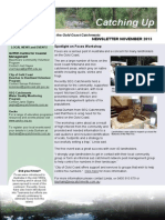 SEQ Catchments Catching Up Newsletter Gold Coast November 2013