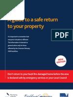 Safe Return Booklet