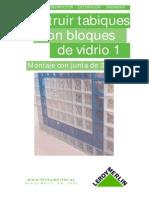 Construccion de Tabiques Con Ladrillos de Vidrio - 1