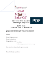 Great Manx Bake-Off Entry Form & Guidelines