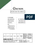 SUNON KD1212PTS1-6A