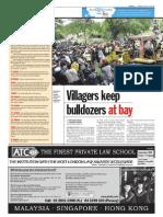 thesun 2009-08-14 page06 villagers keep bulldozers at bay