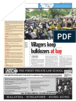 thesun 2009-08-14 page06 villagers keep bulldozers at bay