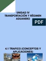 Transportación y régimen aduanero