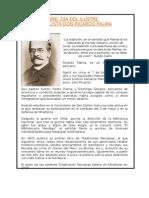 06 octubre_Día del Ilustre Tradicionalista Ricardo Palma