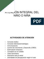 ATENCIÓN INTEGRAL DEL NIÑO O NIÑA