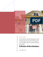 Long-Term Social Impacts and Financial Costs of Foreclosure on Families and Communities of Color