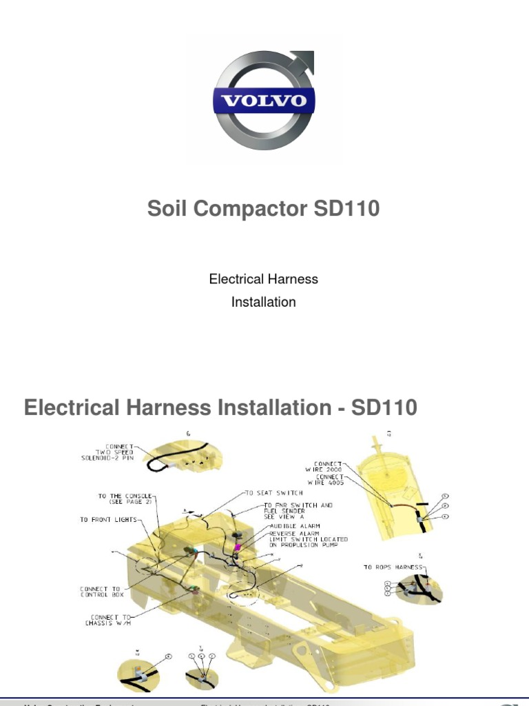 Volvo Construction Wiring Diagram Key Explained Diagrams A Abloy Electrical Harness Installation Sd110 2011 Connector Assa