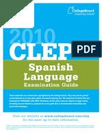 2010CLEPSpanishLanguageExamGuide