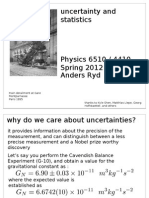 Uncertainty Lecture S12