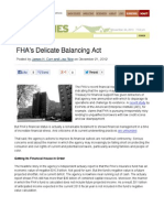 FHA's Delicate Balancing Act