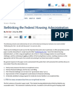 Rethinking the Federal Housing Administration