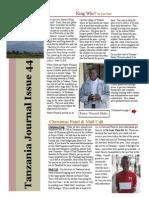 December Tanzania journal