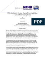 While We Wait for Housing Finance Reform Legislation - Let's Reform Housing Finance