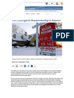 The Challenges to Homeownership in America