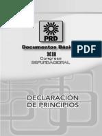 Declaracion de Principios Del PRD