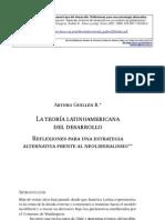 La teoría latinoamericana del desarrollo
