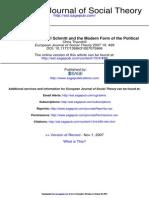 Niklas Luhmann, Carl Schmitt and the Political
