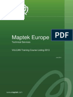 Maptek Technical Services Europe-Training Course Listing 2013