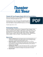 Theater All Year Program Guide