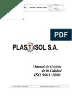 3. Manual de Calidad Plastisol s.A