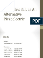 Rochelle's Salt as An Alternative Piezoelectric