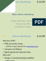 Altium Workshop Basic 2009
