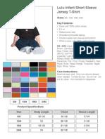 Lulu Infant Short Sleeve Jersey T-Shirt