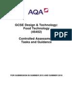 45452 gcse food tech ca tasks -2015-2016-