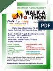 Walk to Help Flyer December 2013